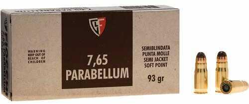 30 Luger 93 Grain FMJ (Per 50) Md: 765A