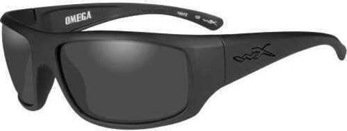 Wiley X WX Omega Sunglasses Matte Black Frame, Smoke Gray Lens