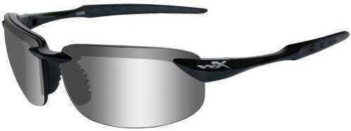 Wiley X WX Tobi Sunglasses Gloss Black Frame, Polarized Gray Silver Flash Lens
