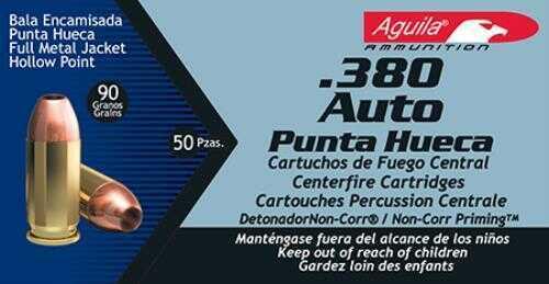 Aguila 380 Auto JHP 90 Grain 50 Box
