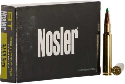 Nosler 40043 Ballistic Tip 30-06 Springfield 165 Gr Ballistic Tip 20 Box