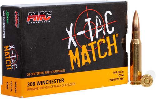 PMC 308XM X-Tac  308 Winchester 168 Gr Open Tip Match 20 Bx/ 40 Cs