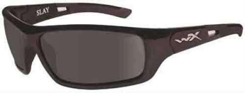 Wiley X X Slay Sunglasses Gloss Black Frame, Polarized Smoke Gray Lens