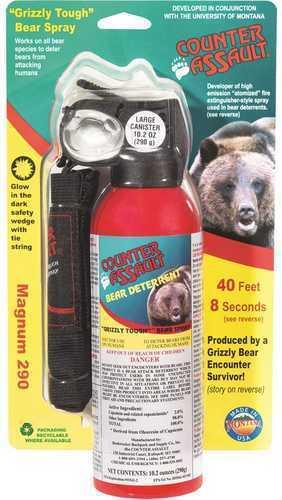 Counter Assault 15067035 Bear Spray W/Holster 32 ft-7 Seconds Range 10.20 Oz