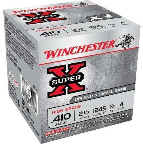 ".410 Gauge By Winchester .410 Gauge 2.5"" 1/2Oz 4 Shot Per 25 Ammunition Md: X414"