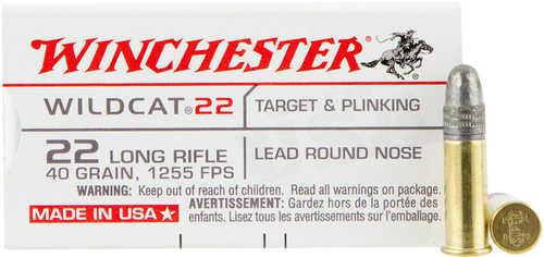 Winchester Ammo Wildcat 22LR 1255Fps 40Grain Lead-RN 50-Pack