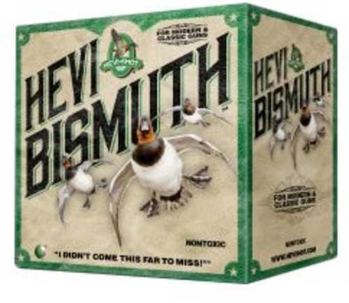 """Hevishot 15504 Hevi-Bismuth Waterfowl 10 Gauge 3.50"""" 1 3/4 Oz 4 Shot 25 Bx/ 10 Cs"""