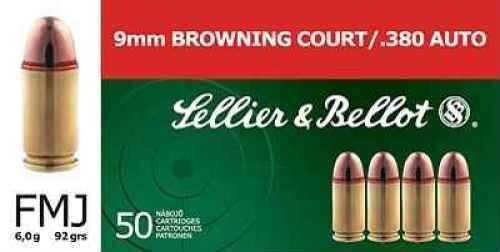 Sellier & Bellot 380 ACP Ammo FMJ 92 Grain 50 Rounds Md: V310332U