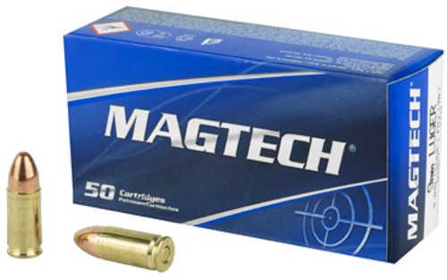 Magtech 9mm Luger Ammo 124 GR Full Metal Jacket (FMJ) 50 Rounds Model 9B