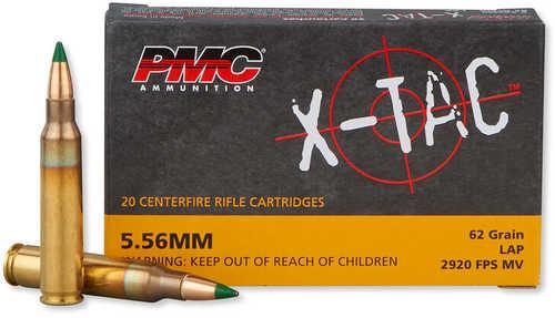 PMC 5.56 Nato X-Tac Lap 62 Grain 20 Rounds Ammo 5.56K