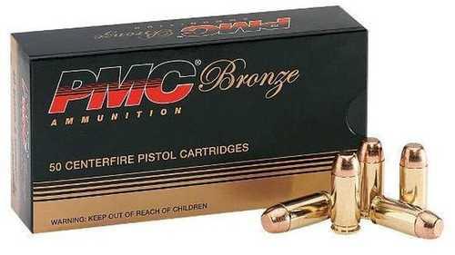 40 S&W 180 Grain FMJ Flat Point 50 Rounds Ammunition PMC Md: 40E