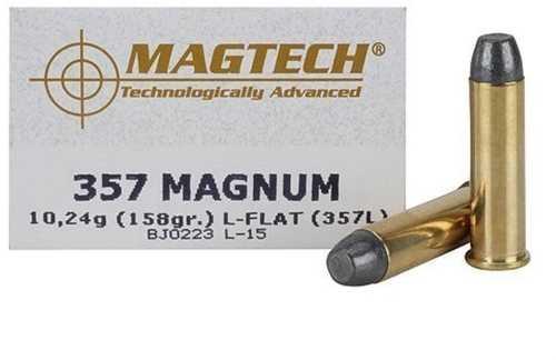 Magtech 357 Remington Magnum 158 Grain Lead Flat Nose 50 RoundsAmmunition Md: 357L