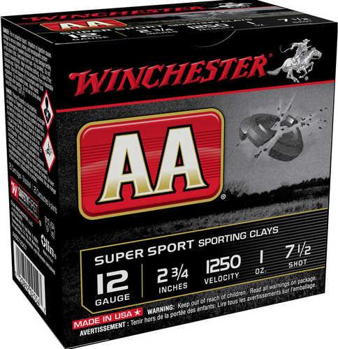"Winchester Ammo AASC12507 AA Super Sport 12 Gauge 2.75"" 1 Oz 7.5 Shot 25 Box"