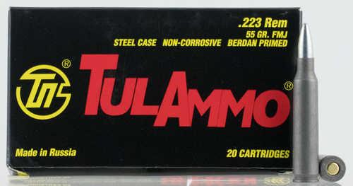 Tulammo 223 Rem 55 Grain FMJ 20 Rounds