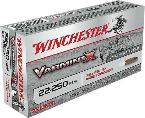 Winchester Ammo X22250PLF Varmint X 22-250 Remington 38 Grains Lead-Free 20 Box