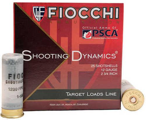 "Fiocchi Shooting Dynamics Heavy Dynamic 12 Gauge 2 3/4"" 1 1/8 Oz 8 Shot 25 Box Shotshells 12Sd18H8"