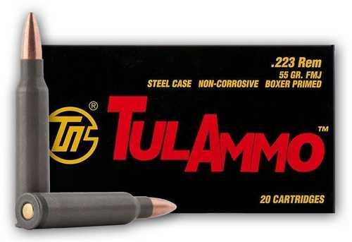 223 Remington 55 Grain FMJ 20 Rounds Ammunition Tula TA223550