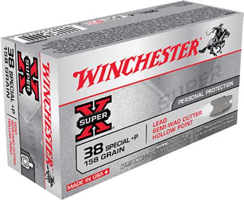Winchester 38 Special + P 158 Grain Lerad Semi-Wadcutter Hollow Point Ammunition Md: X38SPD  AKA The FBI Load