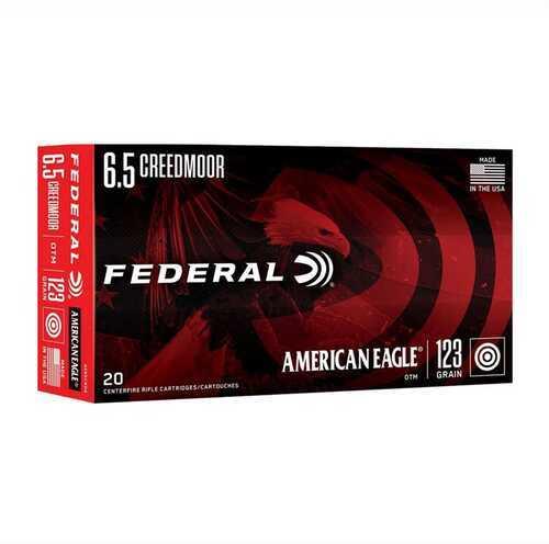 Federal 6.5 Creedmoor Ammo 123 Gr Open Tip Match 20 Rounds