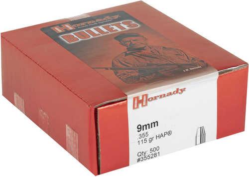 Hornady 355281 Hap 9mm (.355)/380 ACP 115 Grain 500 Per Box