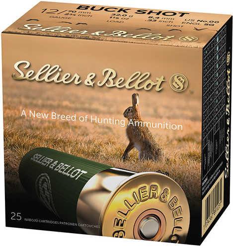 Seller & Bellot 12 Gauge 2-3/4'' 00 Buck 9 Pellets 25 rounds per box 1200 FPS