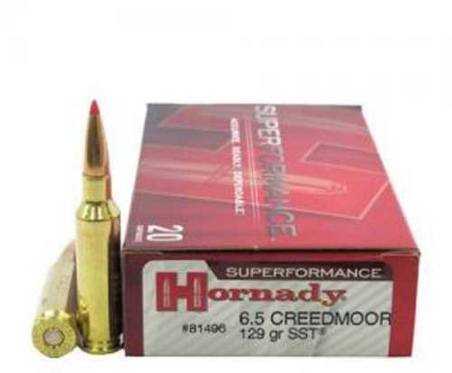 6.5 Creedmoor By Hornady SuPerformance 129 Grain SST (Per 20) Md: 81496 Ammunition