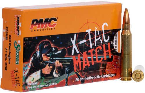 PMC  X-Tac Match 223 Remington 77 Gr Open Tip Match 20 Rounds Per Box