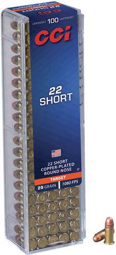 CCI 22 Short 29 Grain Round Nose Ammunition Md: 0027