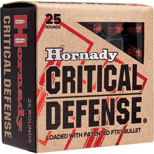 40 Smith & Wesson By Hornady Critical Defense, 165 Grain 20 Per Box Md: 91340 Ammunition