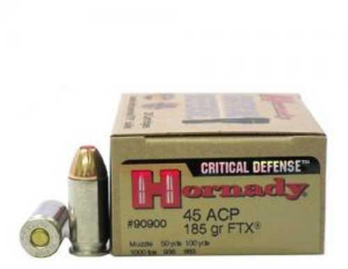 Hornady Critical Defense 45 ACP 185 gr Flex Tip eXpanding 20 Bx