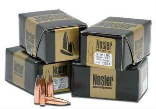 Nosler 22 Caliber .224 60 Grains Spitzer Partition Per 50 Md: 16316 Bullets