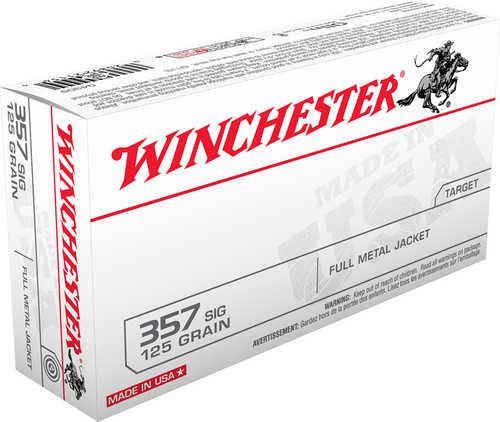Winchester 357 Sig 125 Grain Full Metal Jacket Bullet 50 Rounds Per Box Ammunition Md: Q4309