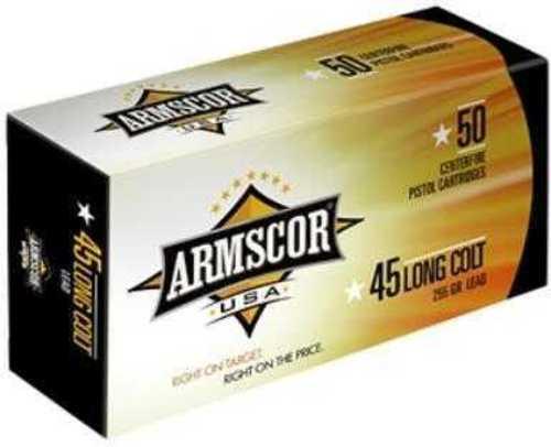 Armscor 45 Long Colt Lead 225 Grain Ammunition, 50 Rounds Per Box Md: FAC45LC1N