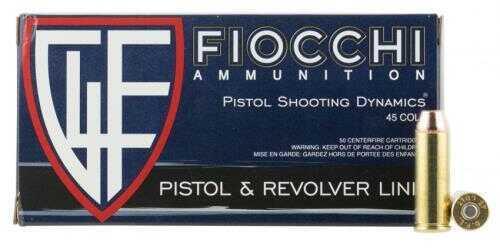Fiocchi Ammo 45 Long Colt 255 Grains, Complete Metal Jacket, Per 50 Md: 45LCCMJ