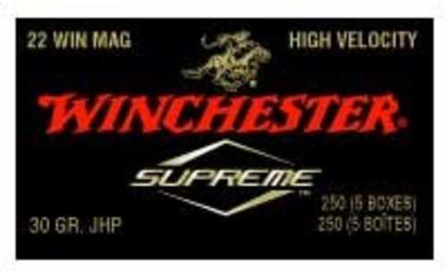 Winchester Ammo 22 Winchester Mag 30Gr. JHP Supreme