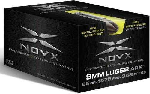 NovX Ammo 9mm 65 Grain ARX 26 Round
