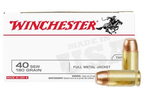 Winchester Ammunition Service Grade 40 S&W 165 Grains Full Metal Jacket 50 Round Box SG40W