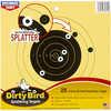 Birchwood Casey Dirty Bird Paper Target Black Small Bore Bullseye Splatter 8? 25 Sheets    Specifications:    - Target Type: Small Bore Bullseye Splatter  - Target Size: 8
