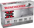 "Super X Mag Buckshot By Winchester 12 Gauge 3 1/2"" 54 Pellets 4 Buck Per 5 Ammunition Md: XB12L4"
