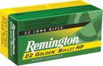 Remington Ammunition 21229 Golden Bullet High Velocity 22 Long Rifle (LR) 36 Gr Plated Hollow Point 225 Bx