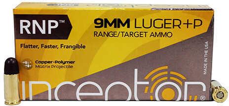 Polycase Ammunition 9mm +P Luger 65 Grains RNP, Sport UTE, Per 50 Md: 0009LPIRNP065-001B00050P