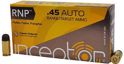 Polycase Ammunition 45 Auto 130 Grains, Round Nose Precision, 50 Rounds Per Box Md: 0045AUIRNP130-001B00050P