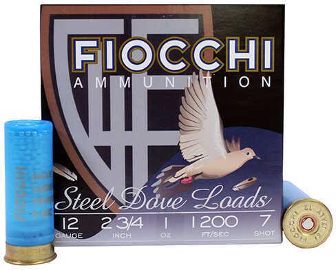 Fiocchi Ammo 12 Gauge Dove/Quail, 2.75 Inch 1 Ounce #7 Shotshells, 25 Per Box Md: 12DLS17
