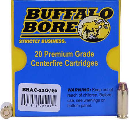 Buffalo Bore 10mm 180 Grains, Full Metal Jacket-FN Tactical Recoil/Flash Ammunition, 20 Rounds Per Box Md: 21G/20