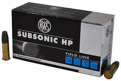 RWS 22 Long Rifle Sub-Sonic 40 Grain Lead Hollow Point Ammunition, 50 Rounds Per Box Md: 2132664