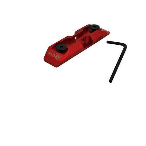 Odin Works KeyMod Low Profile Bipod Adapter Red Md: ACC-K-POD-RED