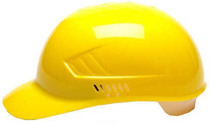 Pyramex Safety Products Ridgeline Bump Cap 4-Point Glide Lock Yellow Md: HP40030