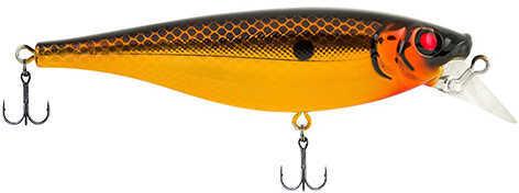 "Berkley Juke Hard Bait Lure 4"" Length, 11/16 oz Weight, 3'-5' Depth, 2 Hooks, Black Gold Chrome, Per 1 Md: 1437099"