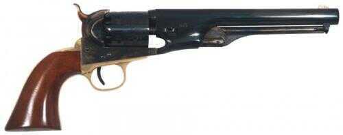 "Cimarron 1861 Navy Civilian Percussion Revolver .36 Caliber 7.5"" Barrel Case Hardened, Brass Walnut Grip, Blue Finish"
