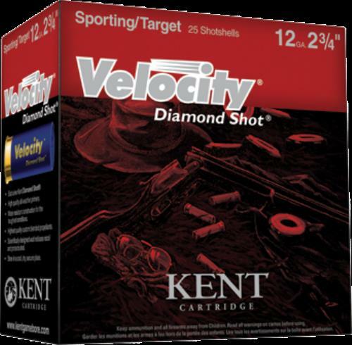 Kent Velocity Fibre Wad 20 Gauge 2.75 Inch 7/8 Ounce #8 Shot Shotshells, 25 Rounds Per Box Md: GV202FW248
